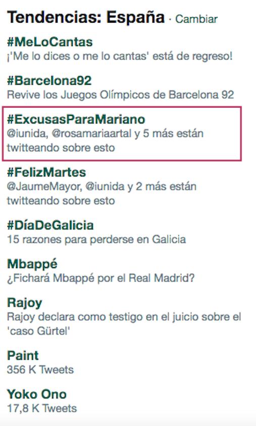 Twitter se llena de posibles #ExcusasParaMariano en su declaración ante el juez: