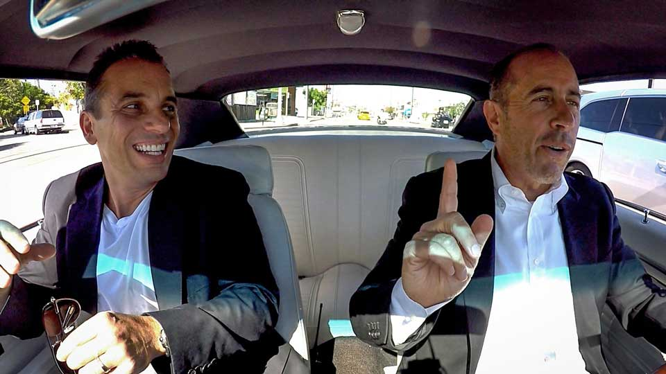 Sebastian Maniscalco joins Jerry Seinfeld as his guest on Comedians In Cars Getting