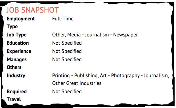 Executive Editor Job Description