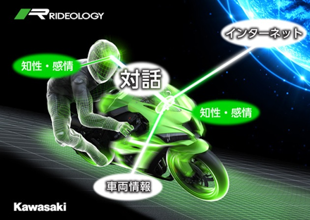 バイクとの対話を可能に! カワサキが人工知能(AI)を搭載したオートバイを開発中