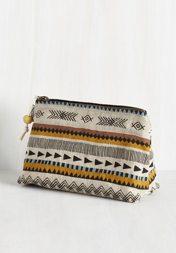 printed travel toiletry bag