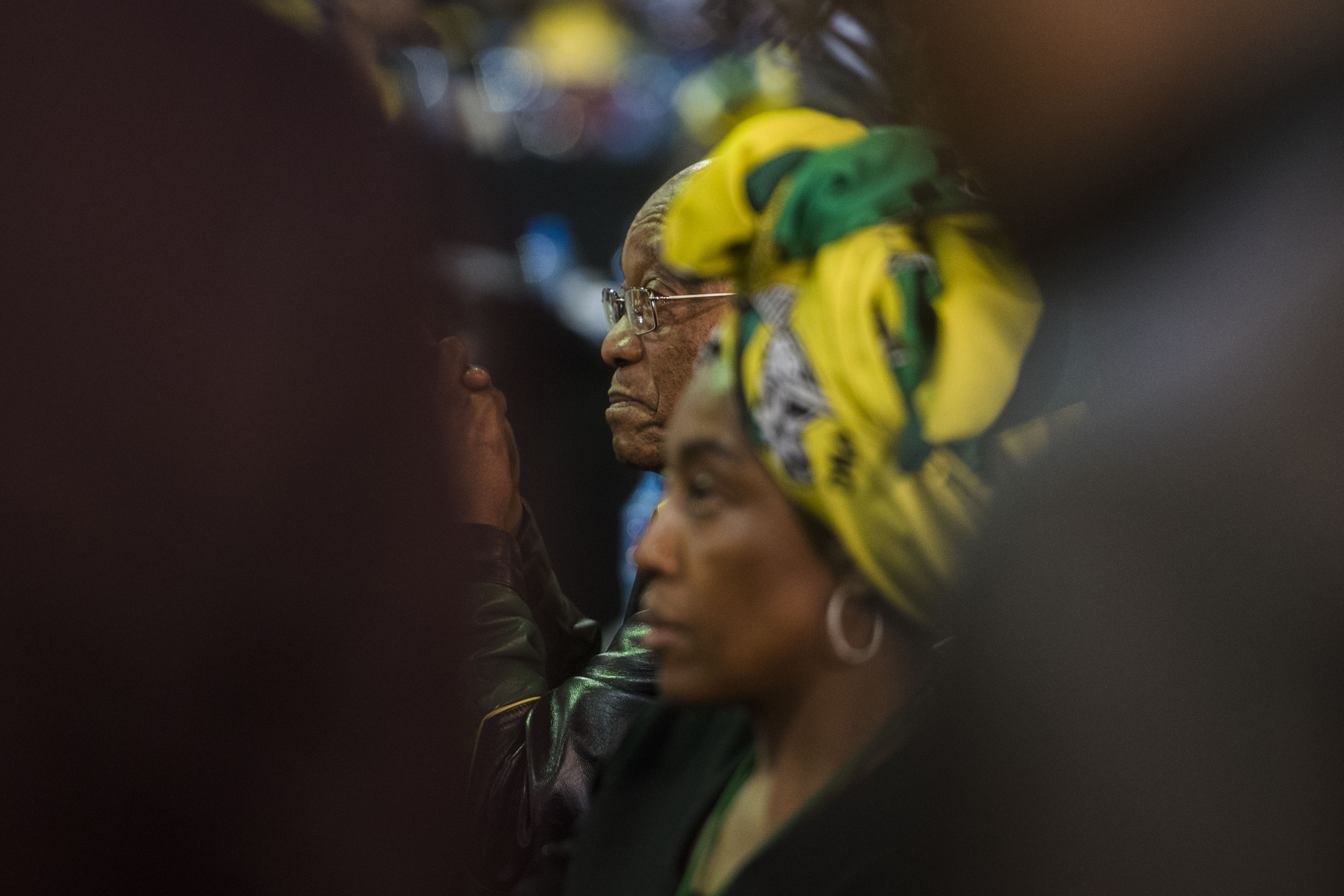 SOWETO, SOUTH AFRICA – DECEMBER 20: President Jacob Zuma during the 1st speech of Cyril Ramaphosa as...