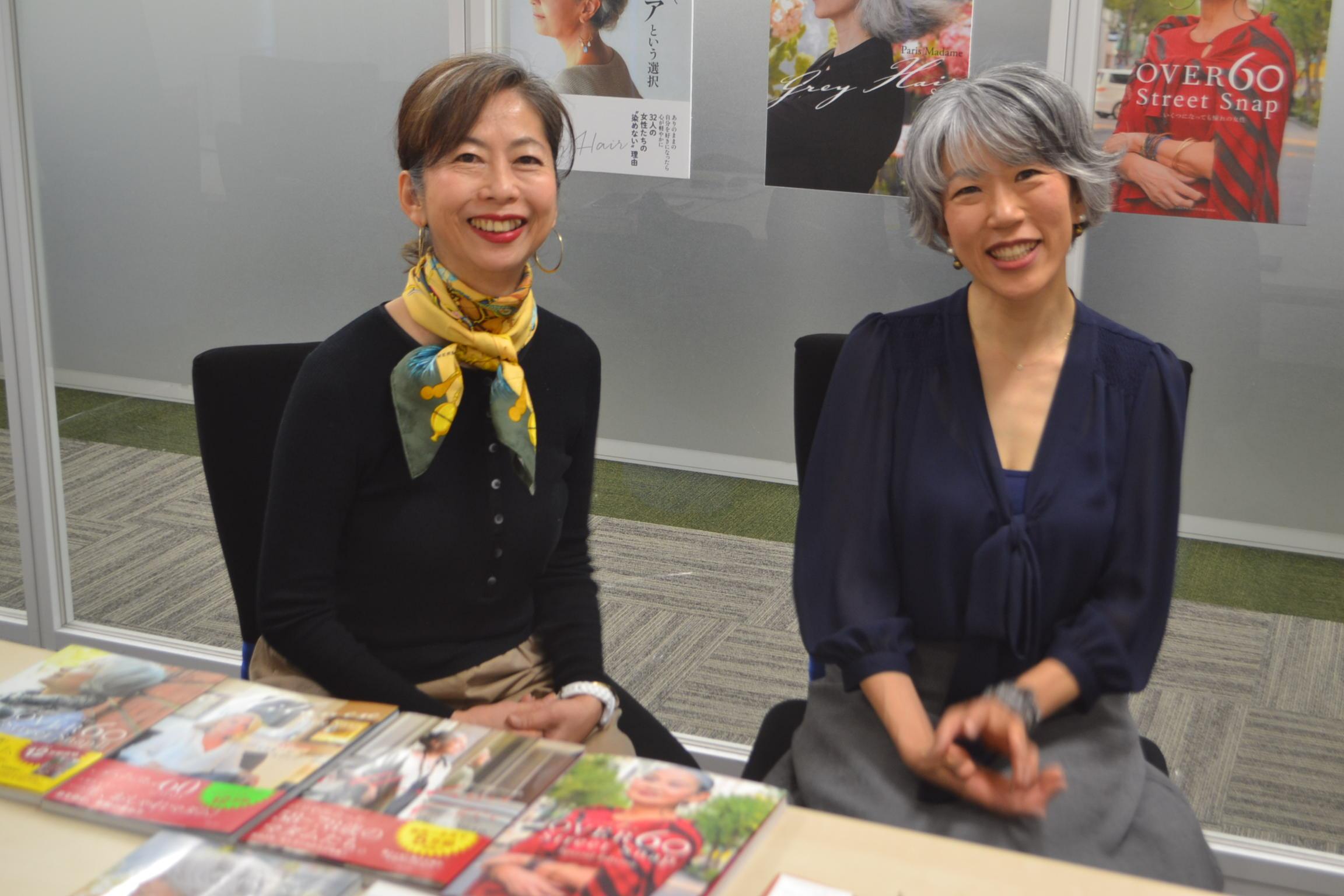 依田さん(左)と朝倉さん=東京都文京区