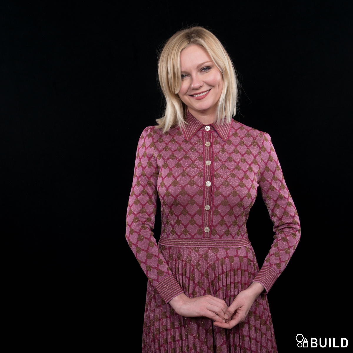 Kirsten Dunst and Patrick Wilson visit AOL Hq for Build on December 11, 2015 in New York. Photos by Noam Galai