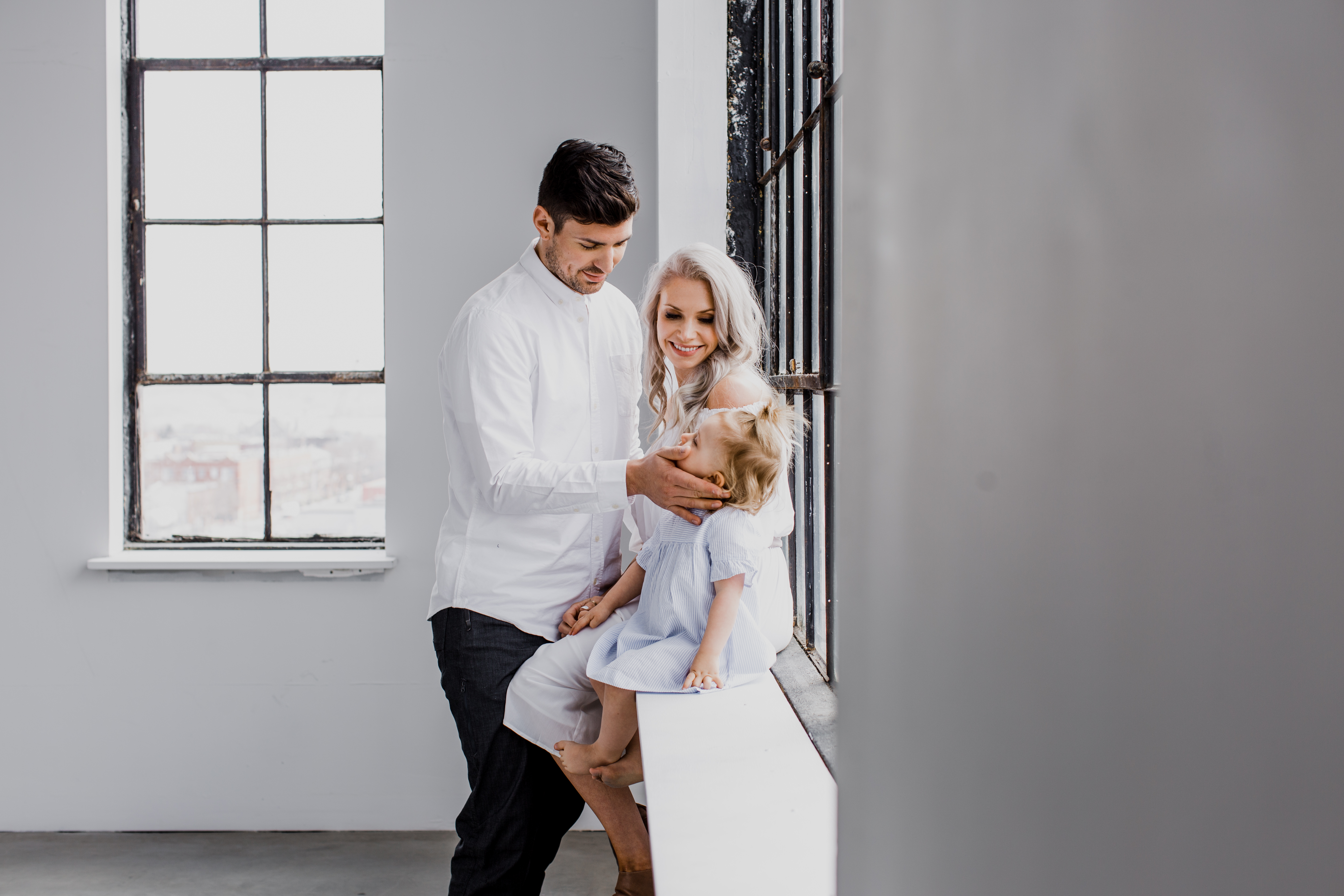 Carey Price with his wife, Angela, and daughter