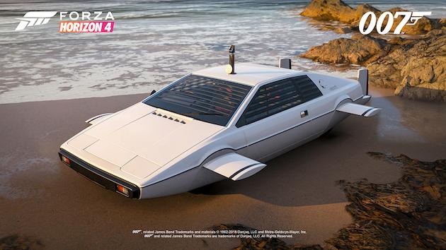 秘密兵器満載のアストンマーティンや潜水艦に替わるロータス! 『Forza Horizon 4』に映画007シリーズのボンドカー・パックが登場