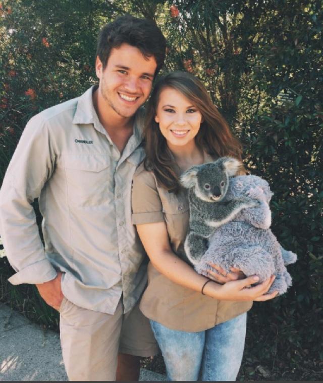Bindi Irwin and boyfriend Instagram baby koala cuddle pictures