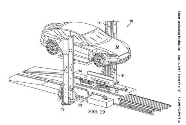 テスラ、移動式バッテリー交換システムの特許を出願 15分未満で作業は完了