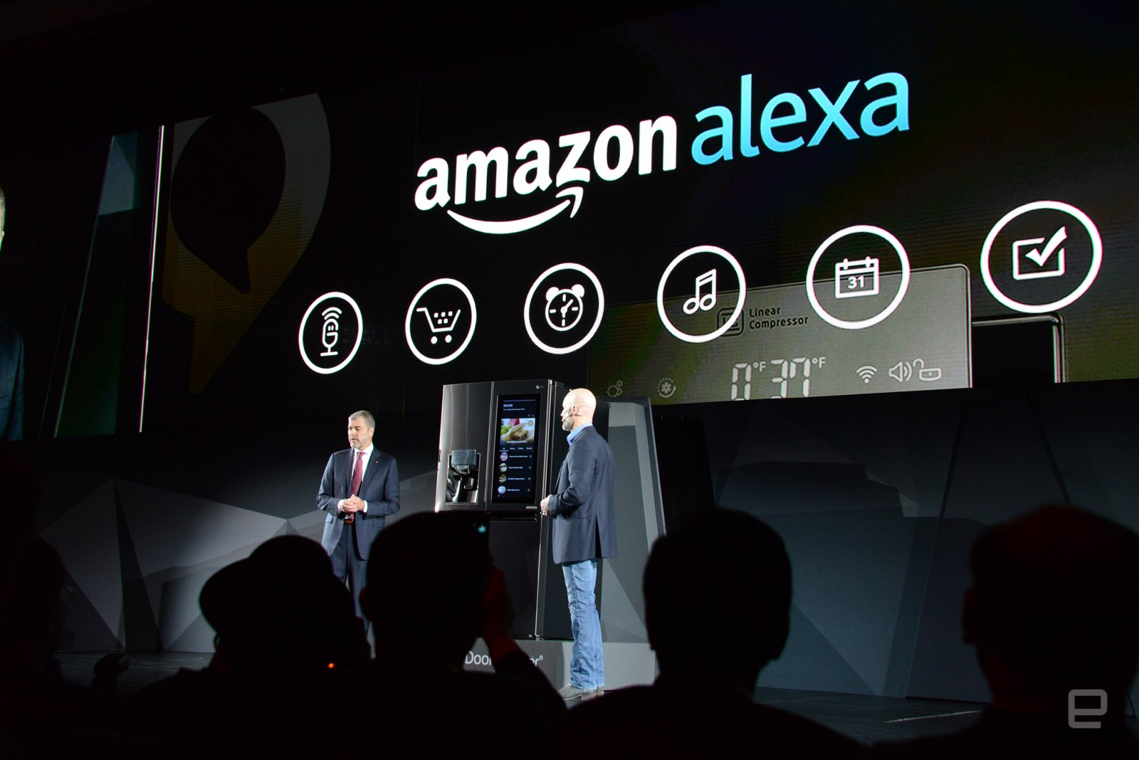 Image result for LG put webOS and Amazon Alexa on a fridge