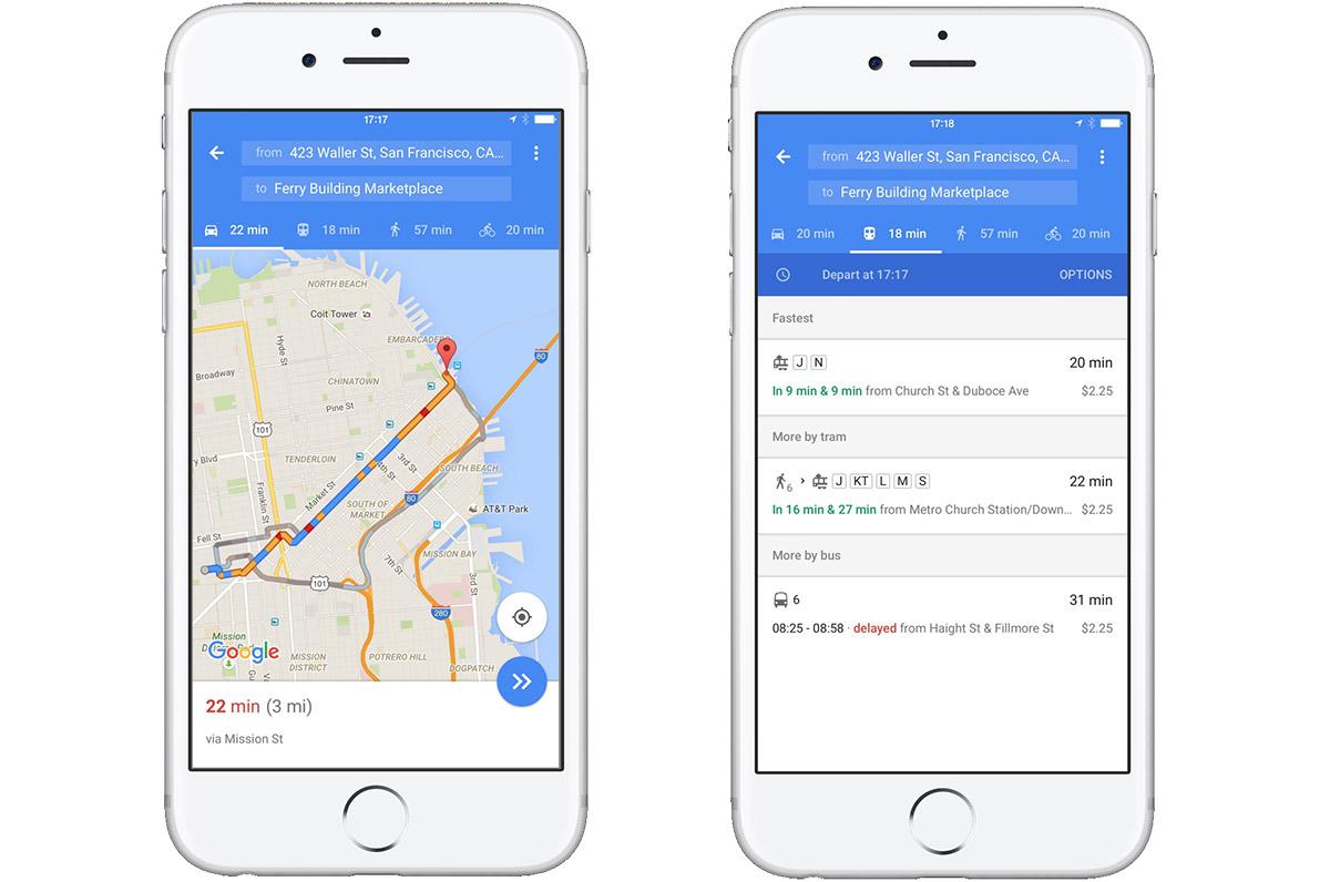 iOS 版 Google Maps 更新,單頁可顯示更多資訊