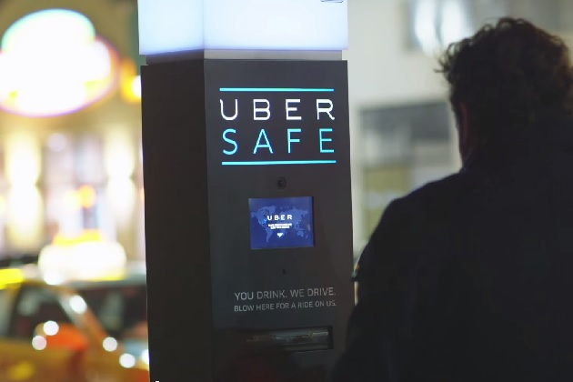 【ビデオ】Uberが街角にアルコール検知器設置し、飲酒運転撲滅キャンペーンを実施