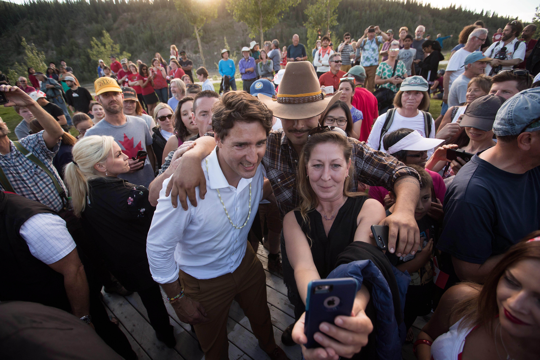 Justin Trudeau participait dimanche à un BBQ pour la fête du Canada à Dawson City, au