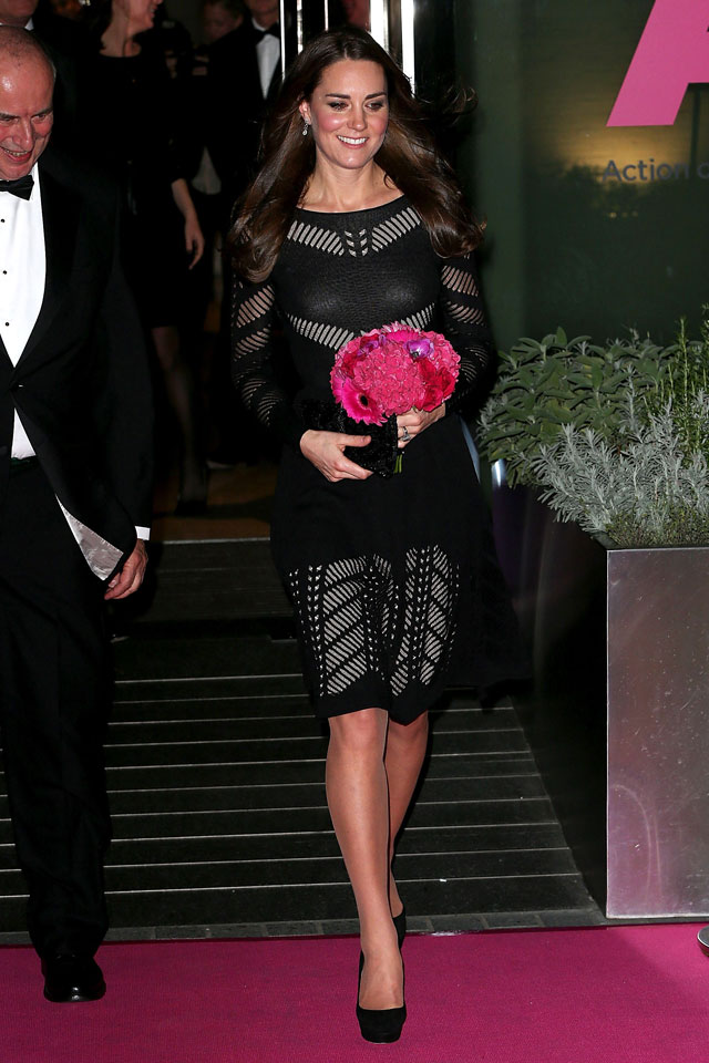 Kate Middleton Is Blooming In Little Black Dress For Gala Dinner