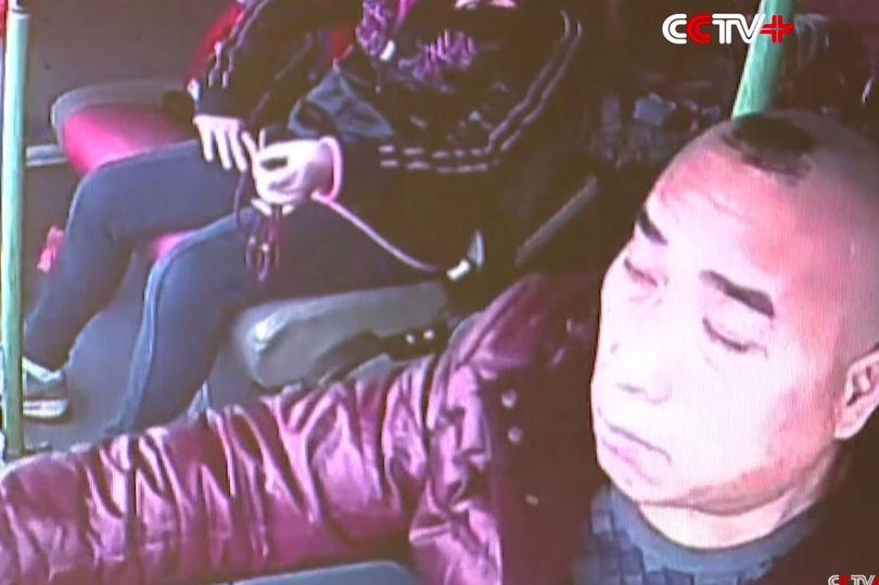Moment coach driver dozes off at wheel causing fatal crash