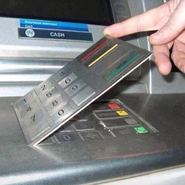 Latest ATM skimming device, clever and terrifying at the same time /via Twitter