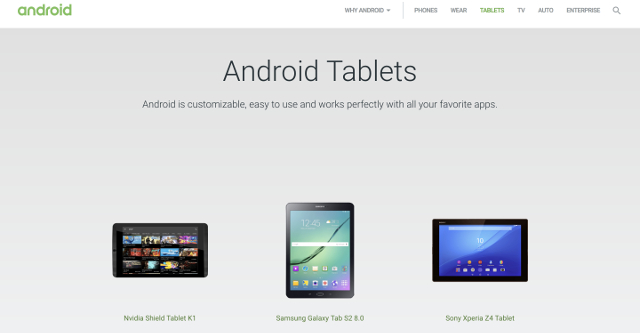 latest android software for tablets