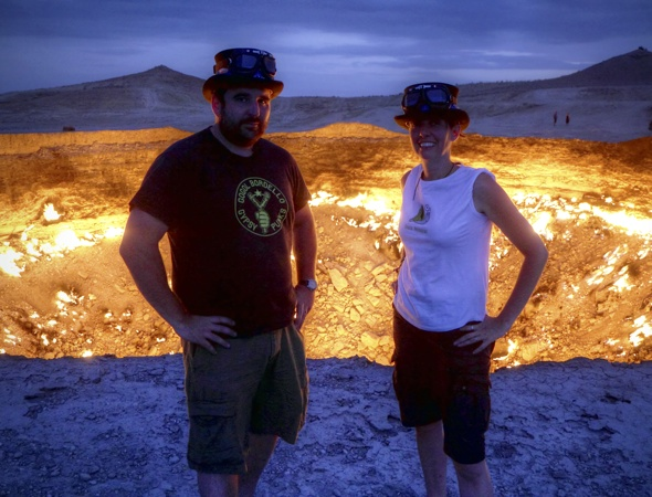 British newlyweds decide to honeymoon at 'Gate to hell'