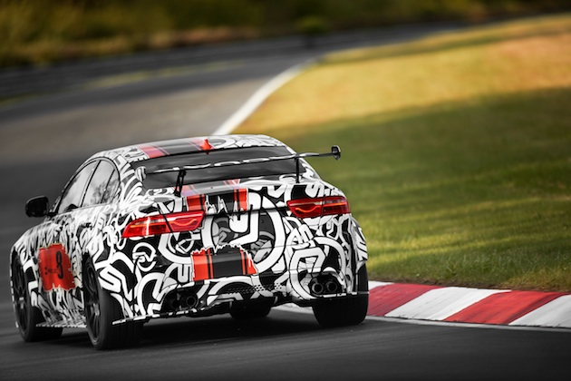 Jaguar XE SV Project 8 prototype testing Nurburgring World Copyright: Patrick Gosling / Beadyeye Ref:  XE_SV_Project8_NBR-0366.CR2
