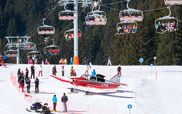 Skier hit by plane on slopes of French Alps resort