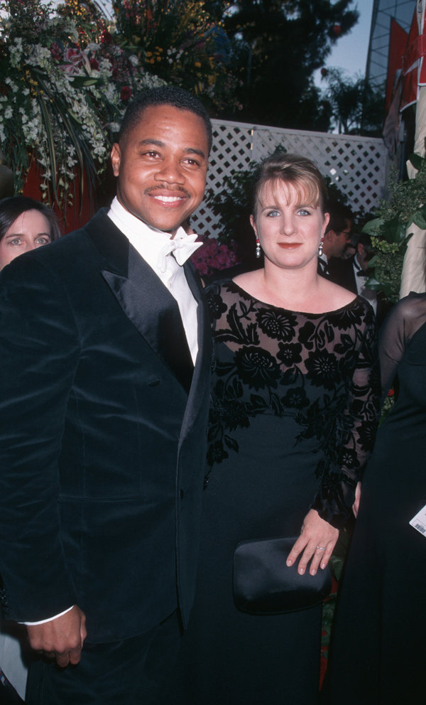 Cuba Gooding Jr. and Sarah Kapfer during The 70th Annual Academy Awards - Red Carpet at Shrine Auditorium...