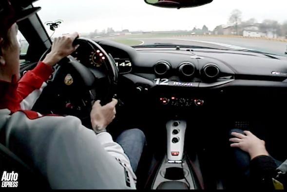 Kimi in a Ferrari