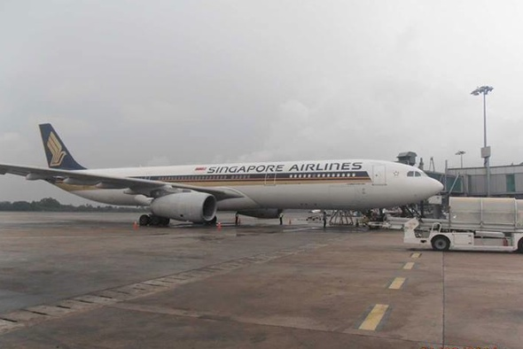 Singapore Airlines plane skids off runway at Myanmar airport