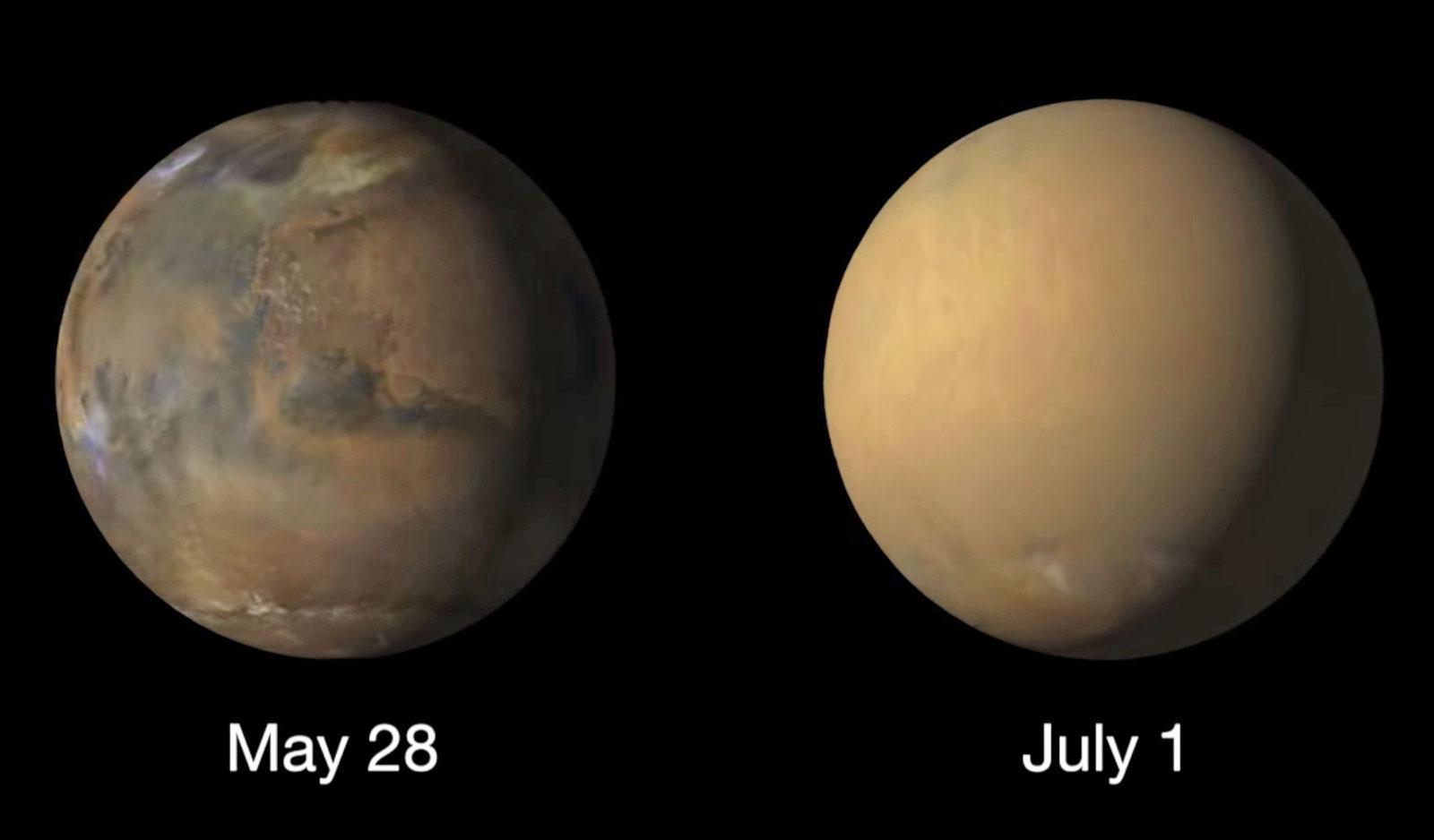 NASA 给你看沙尘暴如何「吞噬」整个火星