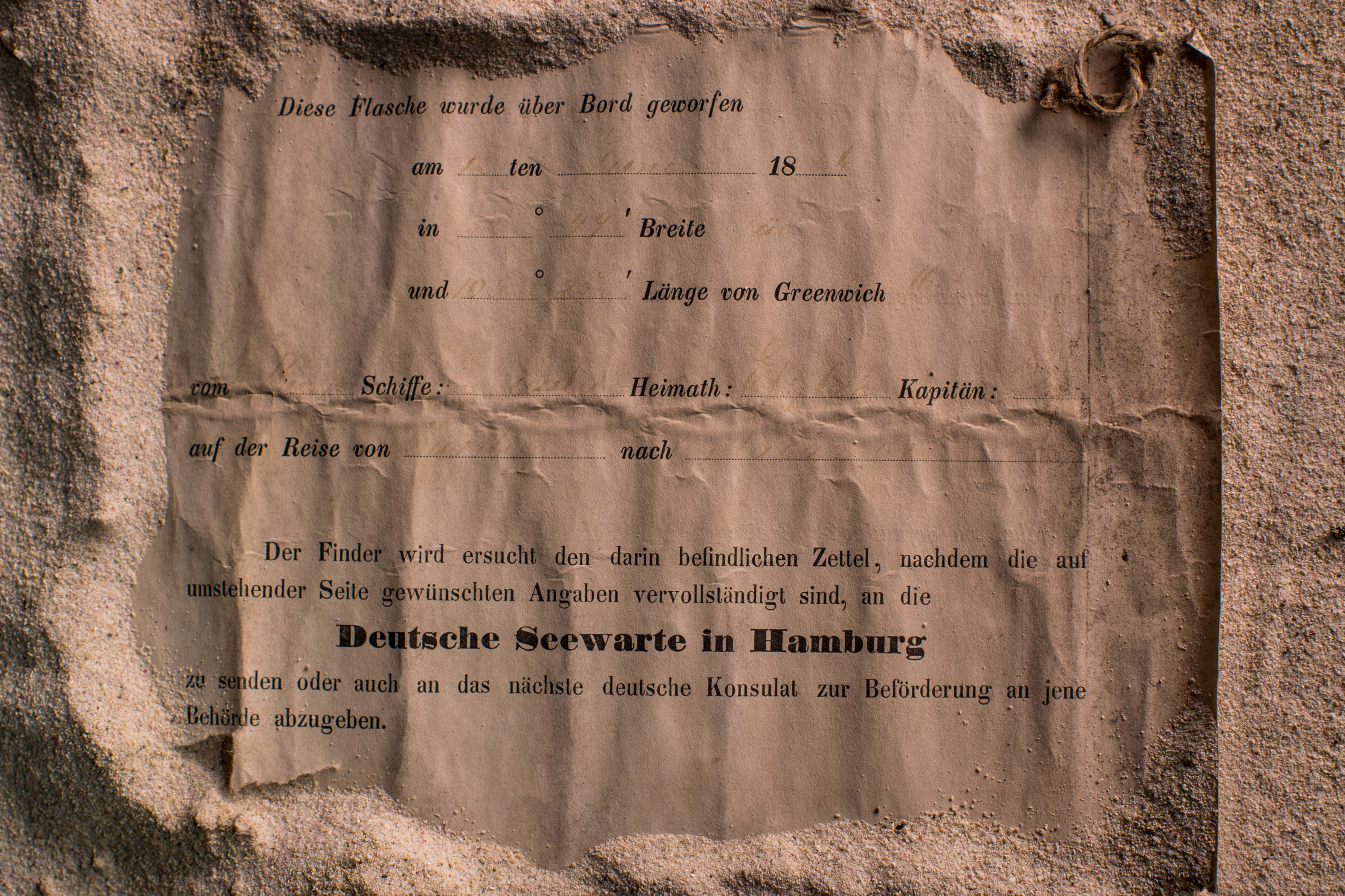 This undated photo received courtesy from Kym Illman on March 7, 2018 shows an almost 132-year-old message...