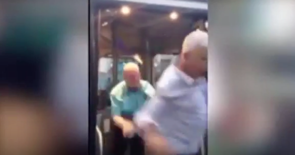 Bus driver throws 'drunk passenger' off vehicle (video)
