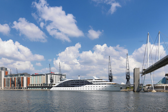 The Sunborn London floating hotel