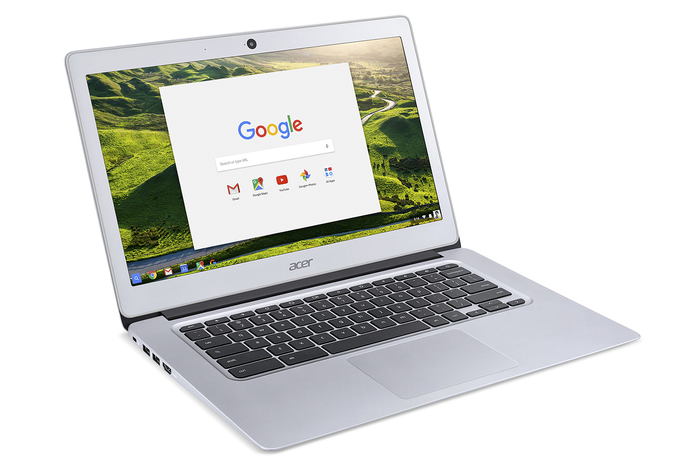 The Acer 14 has a decent keyboard and spacious trackpad.