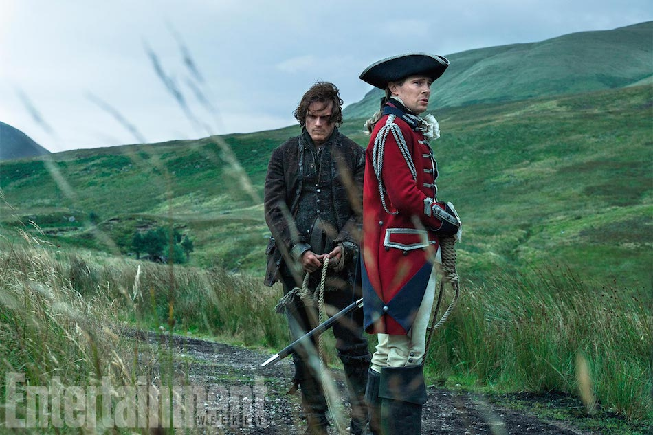 OUTLANDERSeason 3Sam Heughan (Jamie Fraser), David Berry (Lord John William Grey