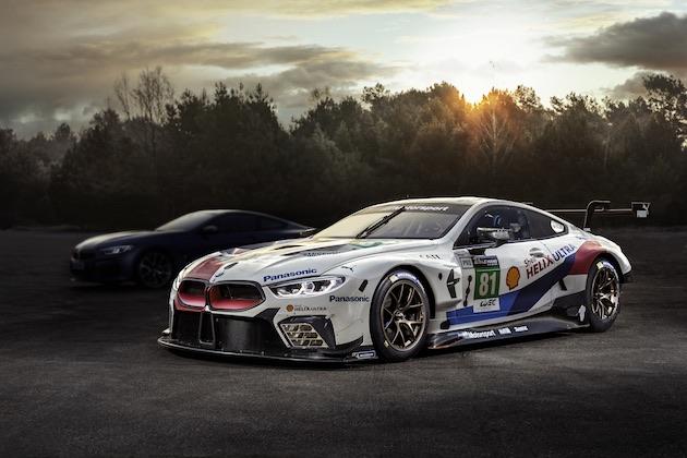BMW、新型「8シリーズ クーペ 」を6月のル・マン24時間レース決勝前日に公開すると発表! その姿をチラ見せ