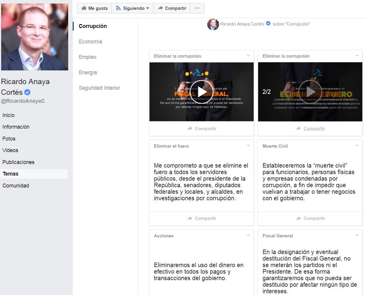 El candidato de la coalición Por México al Frente y sus propuestas en la red