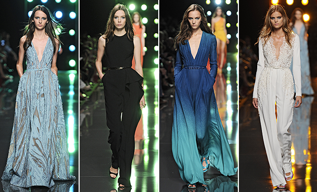 Elie Saab Spring 2015 is glamorous with a touch of edge