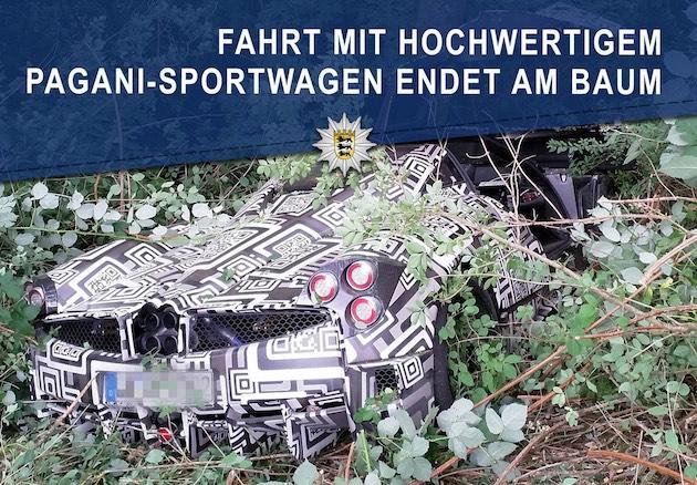新型パガーニ「ウアイラ ロードスター」の開発車両がドイツで事故