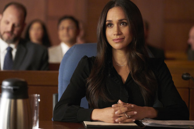 "SUITS -- ""Shame"" Episode 709 -- Pictured: Meghan Markle as Rachel Zane -- (Photo by: Ian Watson/USA..."
