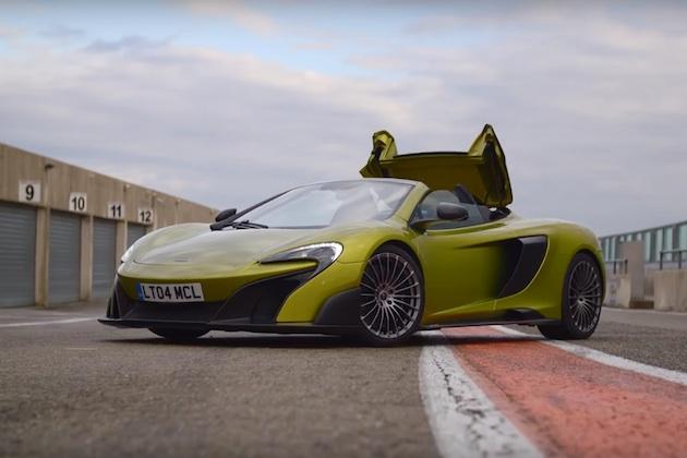 マクラーレン、2週間で完売した新型「675LT スパイダー」の走行映像を公開