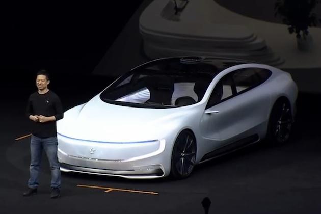 テスラに追随できるか!? 中国のLeEcoが自動運転の電気自動車を公開!