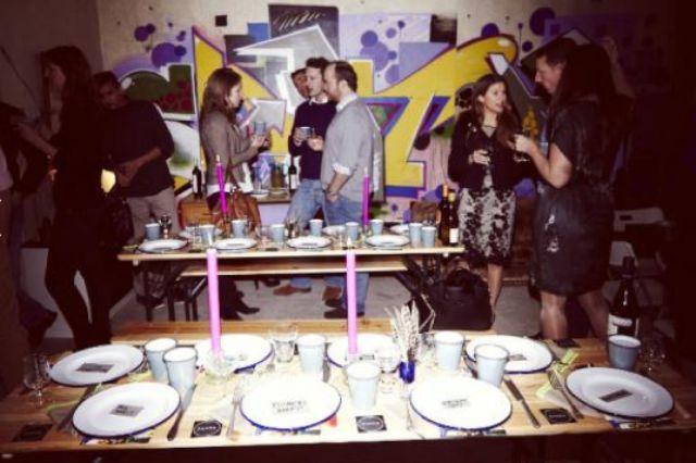 Derelict flat dinner party