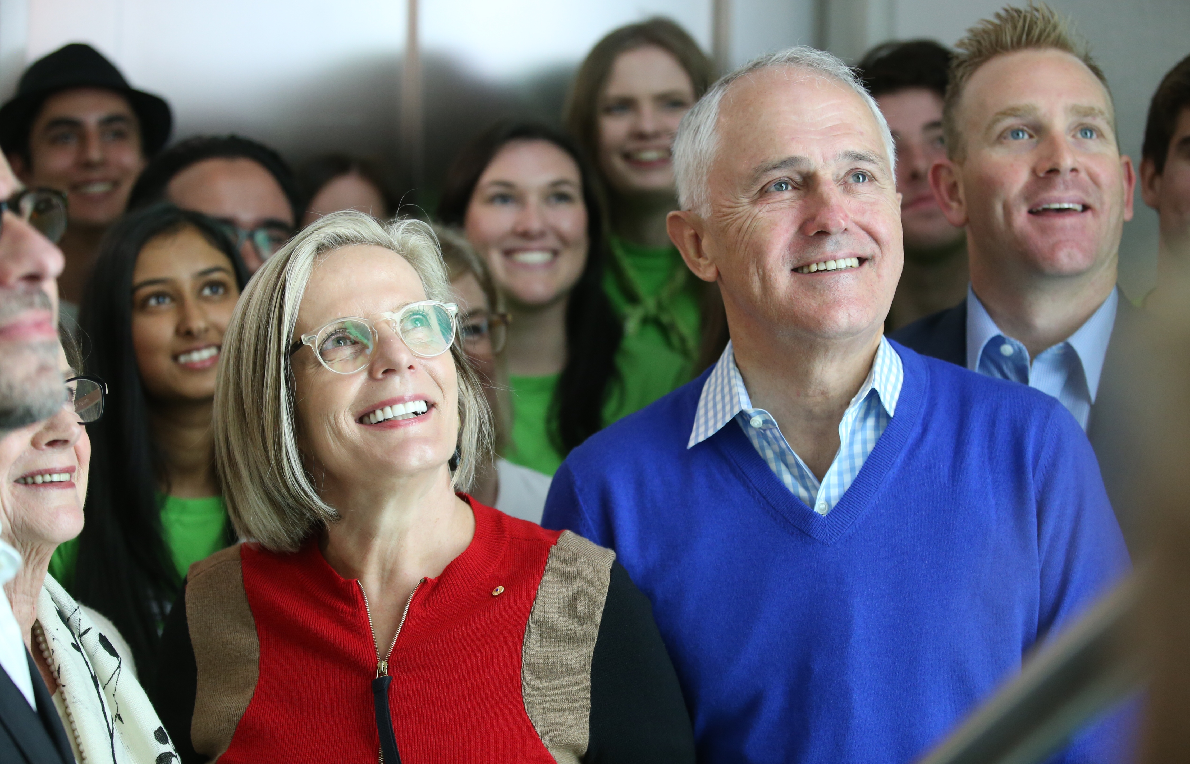 Lucy and Malcolm Turnbull at the opening of mental health facility Headspace in Bondi
