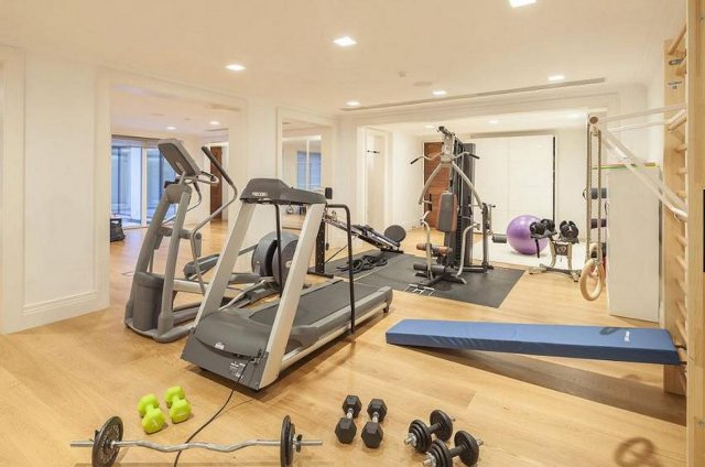 The gym at the Parsons Green house