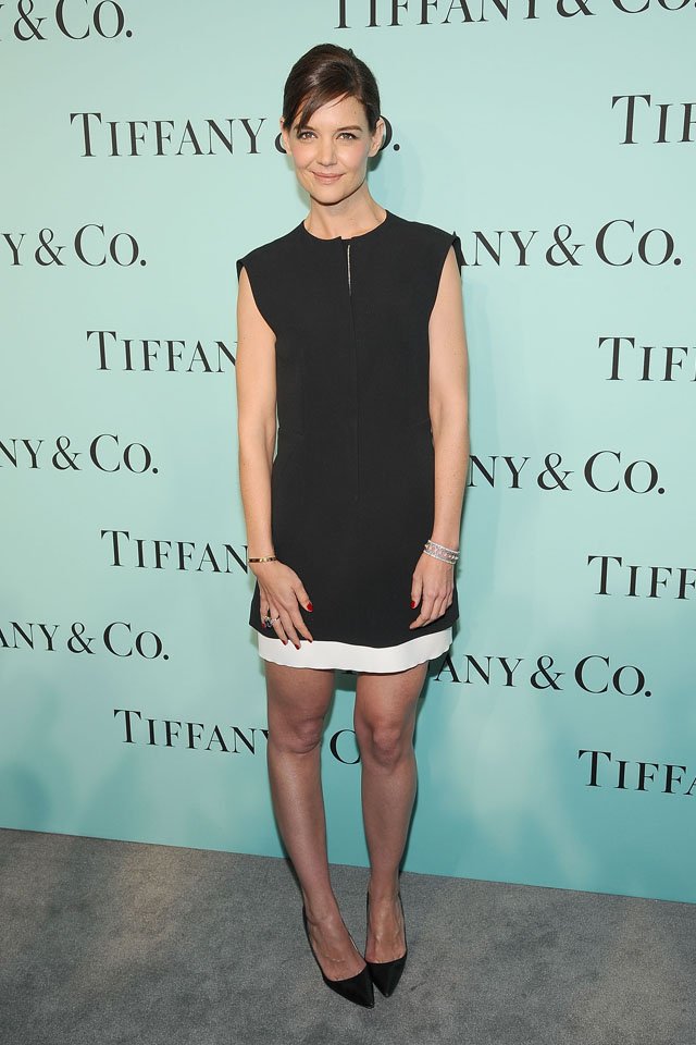 NEW YORK, NY - APRIL 10:  Katie Holmes attends the 2014 Tiffany's Blue Book Gala at the Guggenheim Museum on April 10, 2014 in New York City.  (Photo by Gary Gershoff/WireImage)