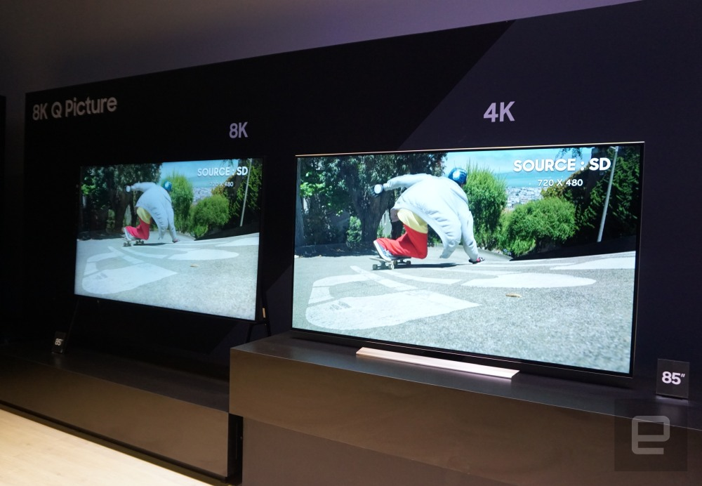 Samsung's 8K TV uses AI that 'learns' to upscale low-res video