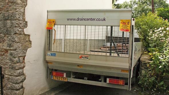 Stuck lorry