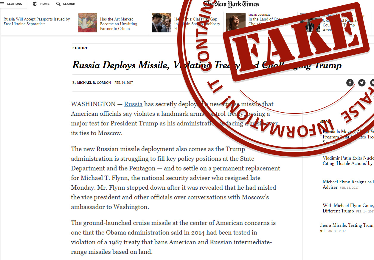 The Russian government has its own 'fake news' watchdog site