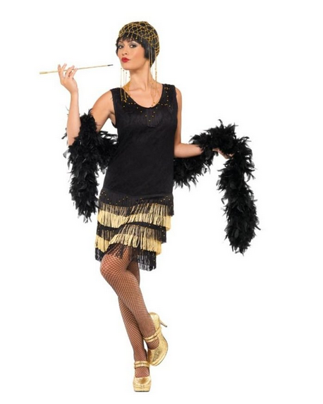 Discount Fringed Flapper Halloween Costume
