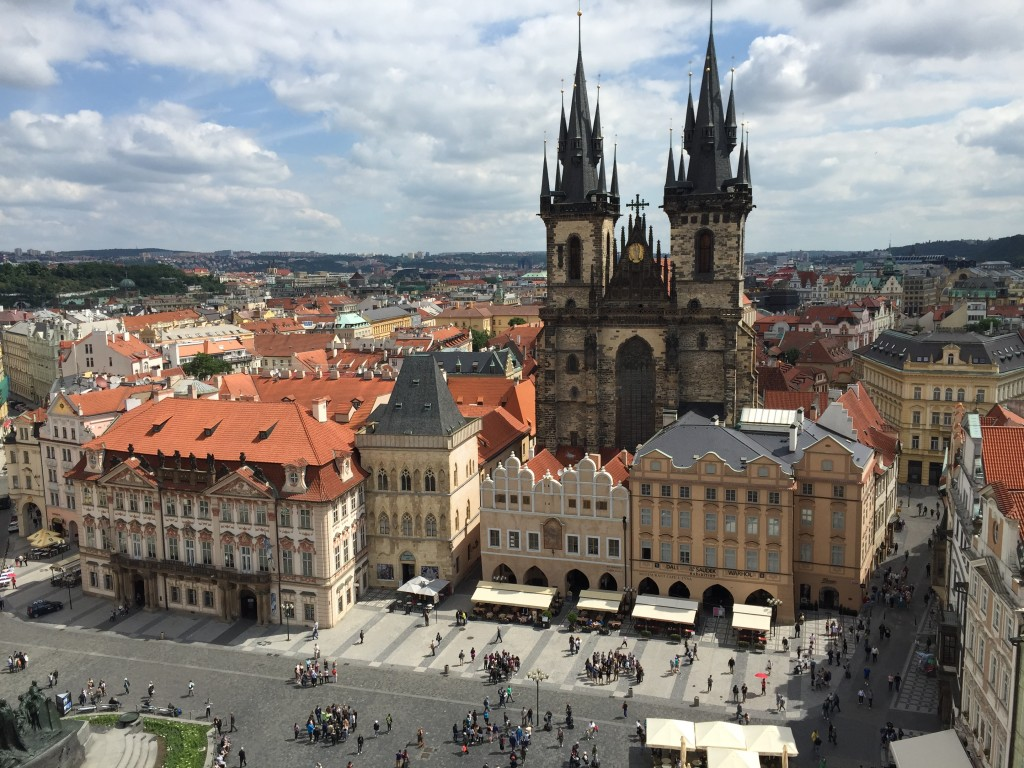 Prague. View of Old Town Square from the Old Town Hall Tower