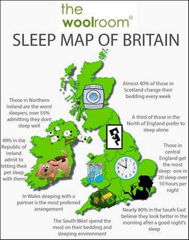 Sleep map of Great Britain revealed