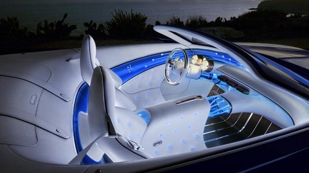 Mit dem luxuriösen Interieur des Vision Mercedes-Maybach 6 Cabriolet zeigt Mercedes-Benz eine neue Synthese von Intelligenz und Emotion // With the luxurious interior of the Vision Mercedes-Maybach 6 Cabriolet, Mercedes-Benz demonstrates a new synthesis of intelligence and emotion